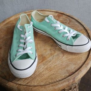 New Sea Green Converse Shoes
